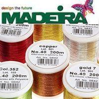 Madeira Metallic, fémszálas himzőcérnák