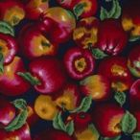 Patchwork pamutvásznak - gyümölcsök, növények