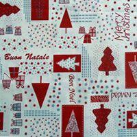 Patchwork pamutvásznak - karácsonyi mintásak